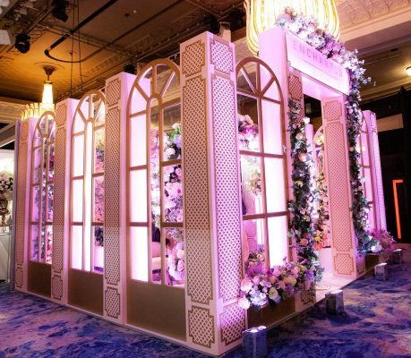 Event conference stand build florist