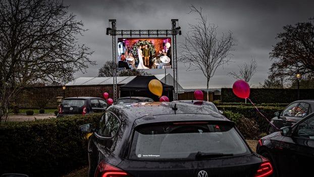 drive in wedding hertfordshire